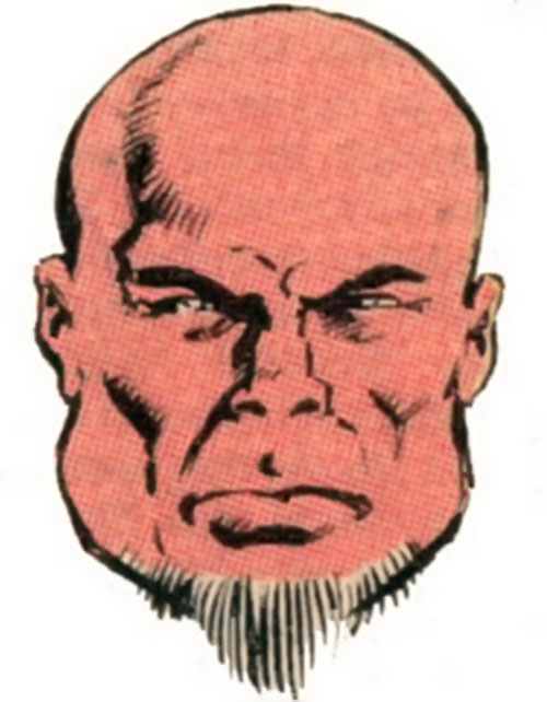Blockbuster of the Marauders (Marvel Comics) face closeup