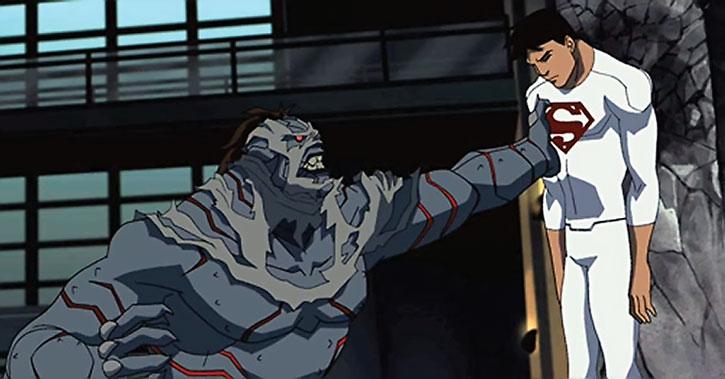 Blockbuster hammers Superboy