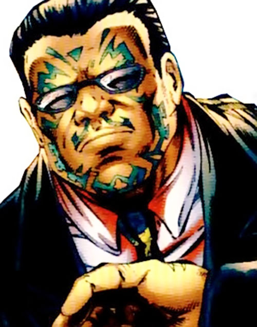 Blok (Mister X bodyguard) (Marvel Comics) face closeup