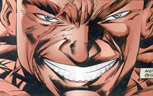 Bloodshed (Solution enemy) (Ultraverse comics) face closeup