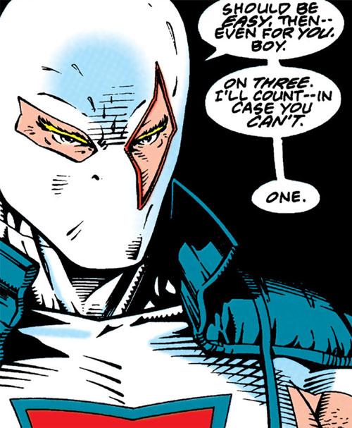 Bloodsport II (Trent) (Superman enemy) (DC Comics) face closeup