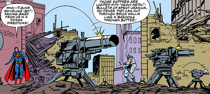 Bloodsport II (DC Comics) (Superman enemy) deploying turret guns