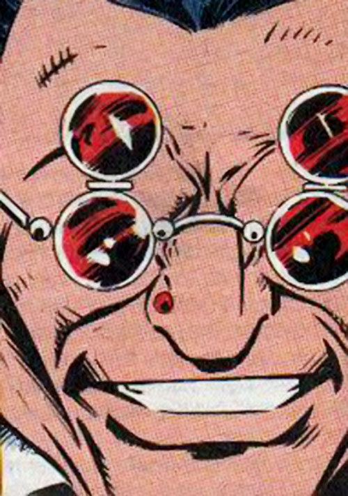 Bloodstrike (Marvel Comics) face closeup with flip-up shades