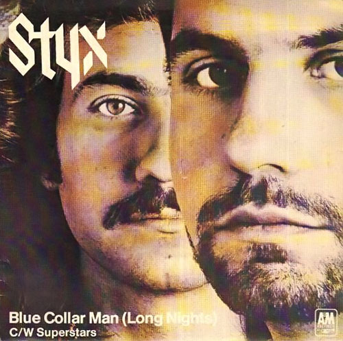Cover of Styx's Blue Collar Man