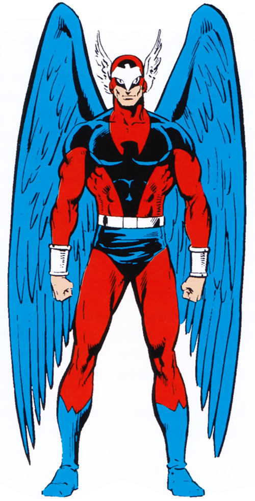 Blue Eagle (Squadron Supreme) (Marvel Comics) with the winged helmet