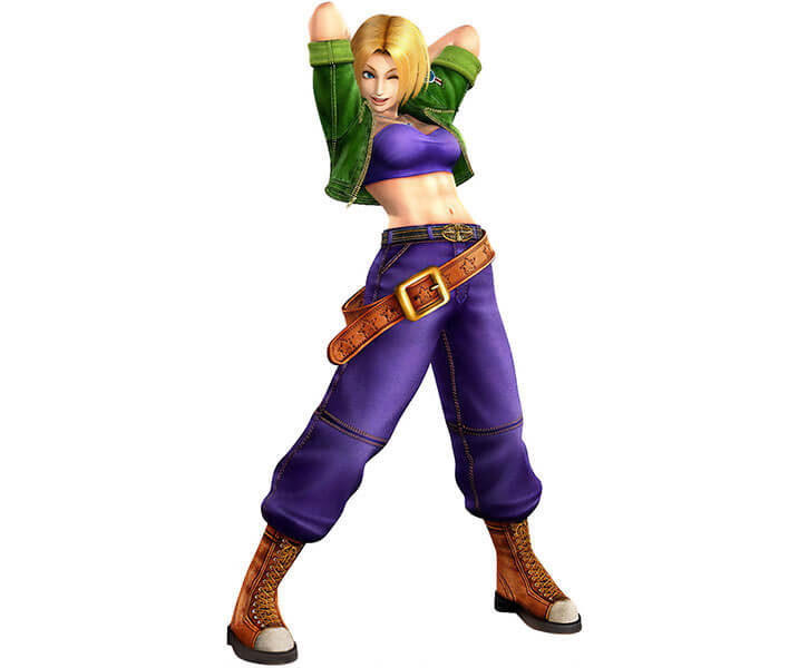 Blue Mary Ryan in King of Fighters 4