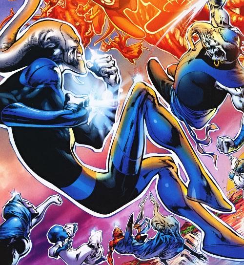 Blue Lanterns vs. Orange Lanterns (DC Comics)