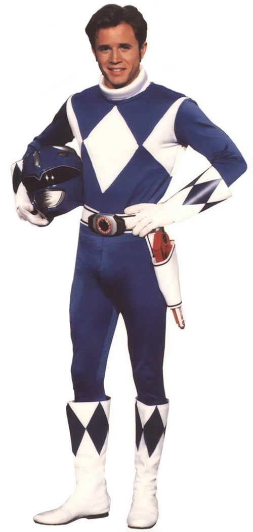 Blue Ranger (Billy) of the Mighty Morphin' Power Rangers (Early) with helmet off