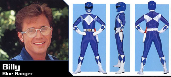 Blue Ranger (Billy) of the Mighty Morphin' Power Rangers (Early) banner