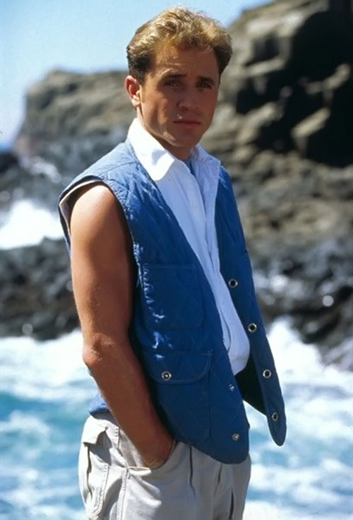 Blue Ranger (Billy) of the Mighty Morphin' Power Rangers (Early) - David Yost and the sea