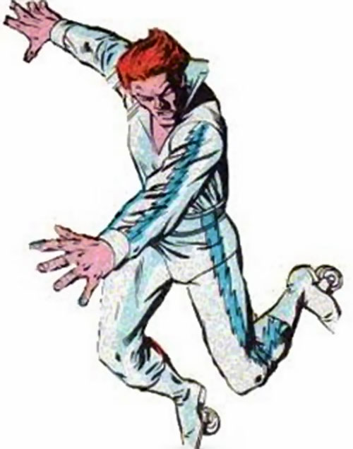 Blue Streak (Marvel Comics) with the white disco costume