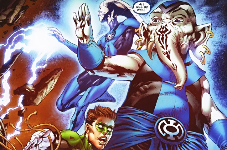The Blue Lantern Corps to the rescue