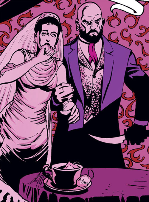 Bluebeard of the Fables (DC Comics) and a bride