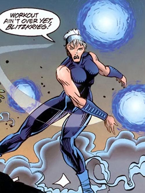 Bomber (Dark Horse Comics) throwing bombs