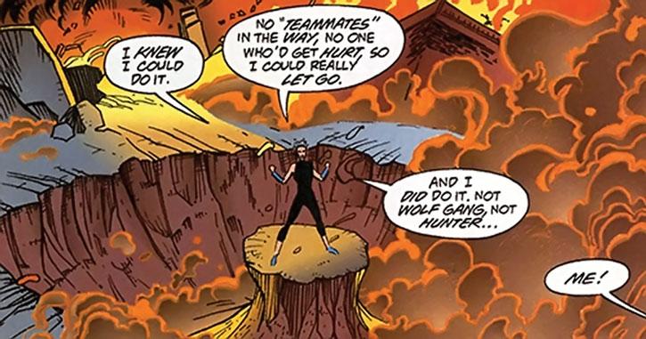 Bomber uses her full power