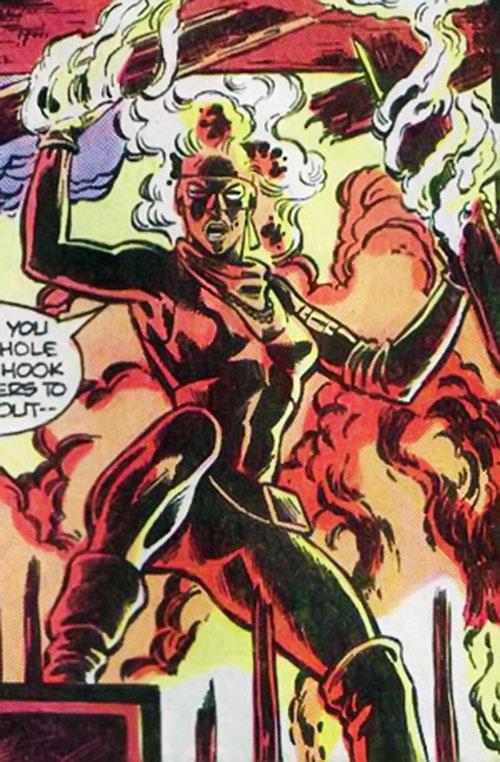 Bonfire (Black Canary enemy) ablaze