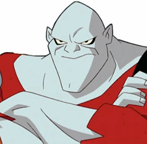 Bonk of the Jokerz (Batman Beyond enemy) (DC animated) face closeup