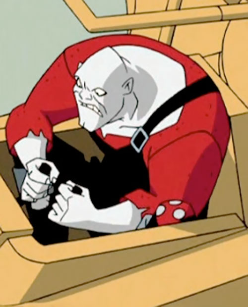 Bonk of the Jokerz (Batman Beyond enemy) (DC animated) driving