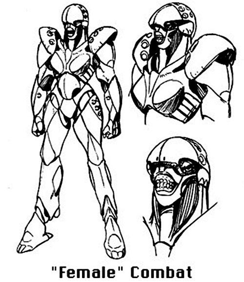 Female combat Boomer robot (Bubblegum Crisis)