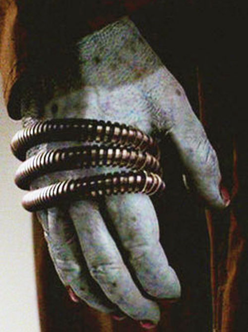 Boone (Angel character) closeup on reinforced knuckles
