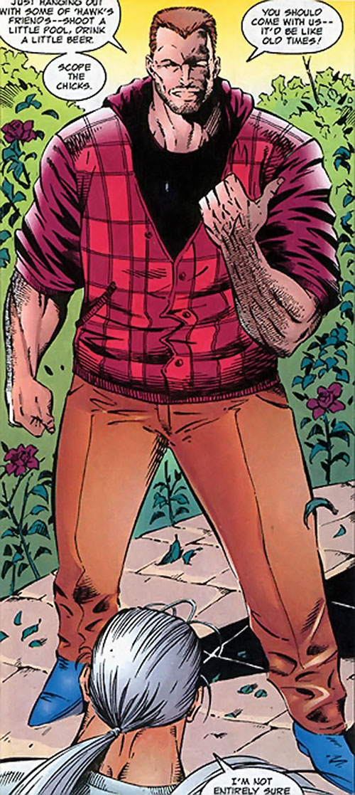 Boone of Brigade (Image Comics) in his civvies