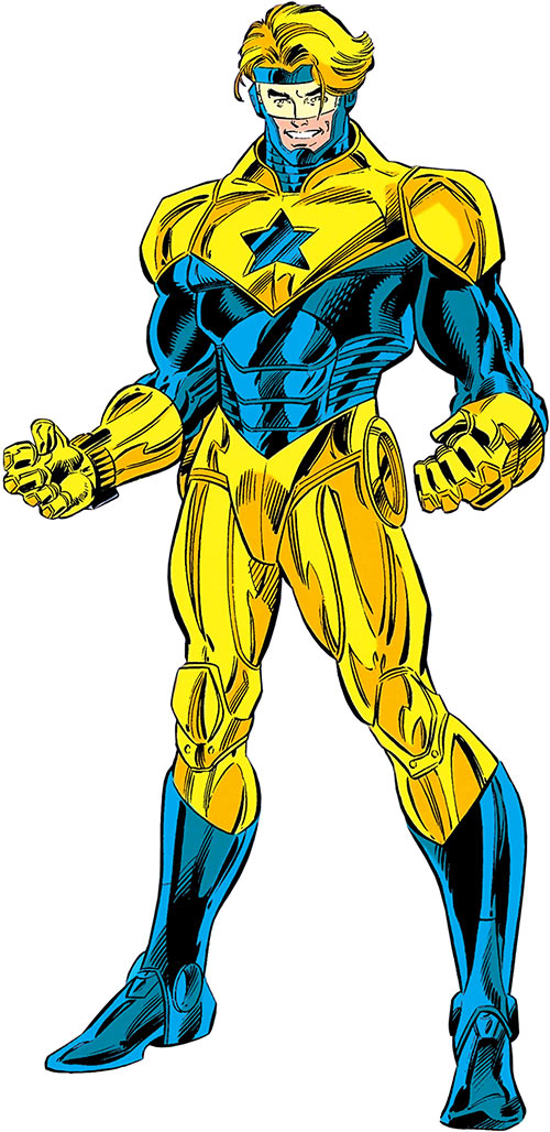 Booster Gold (DC Comics) Mark X armour suit (Extreme Justice, 1996)