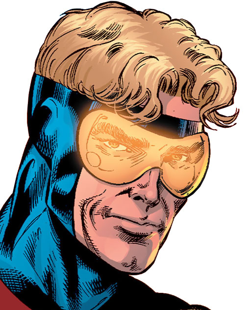 Booster Gold (DC Comics) face closeup
