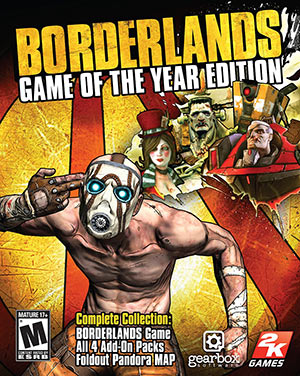 Borderlands 1 video game of the year edition cover