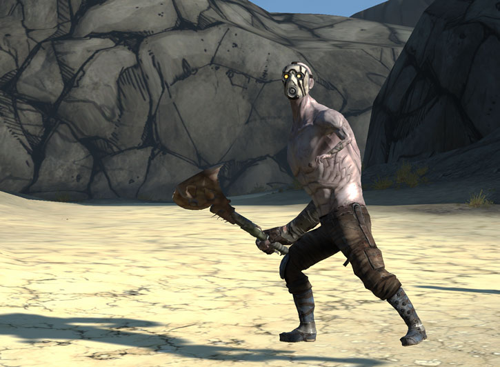Borderlands - Badass psycho bandit with a buzz axe