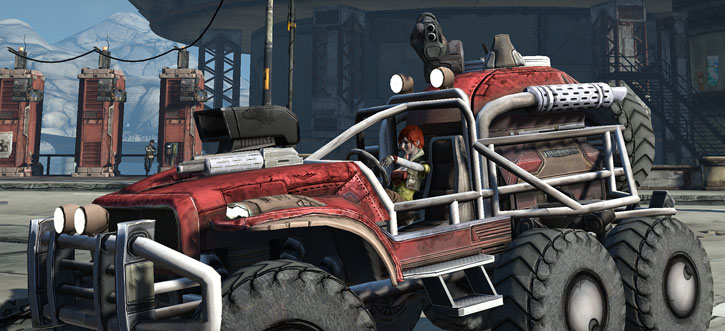 Borderlands - Cheetah's Paw combat truck driven by Lilith
