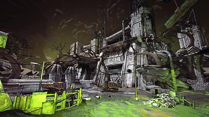 Borderlands game setting RPG - Toxic caverns