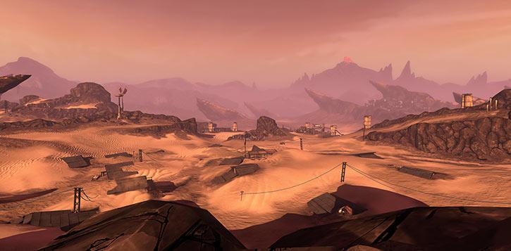 Borderlands game setting RPG - Dust desert