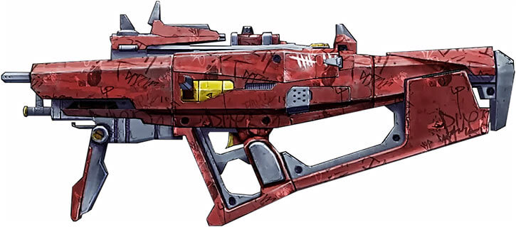 Borderlands game weapons - Bitch SMG