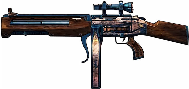 Borderlands game weapons - Hammer Buster rifle BL2
