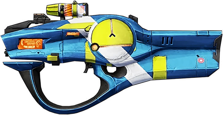 Borderlands game weapons -BL2 Hellfire SMG