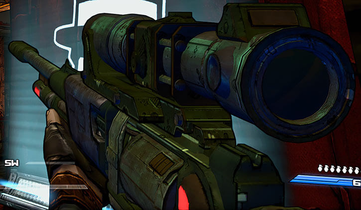 Borderlands game weapons - Volcano sniper rifle
