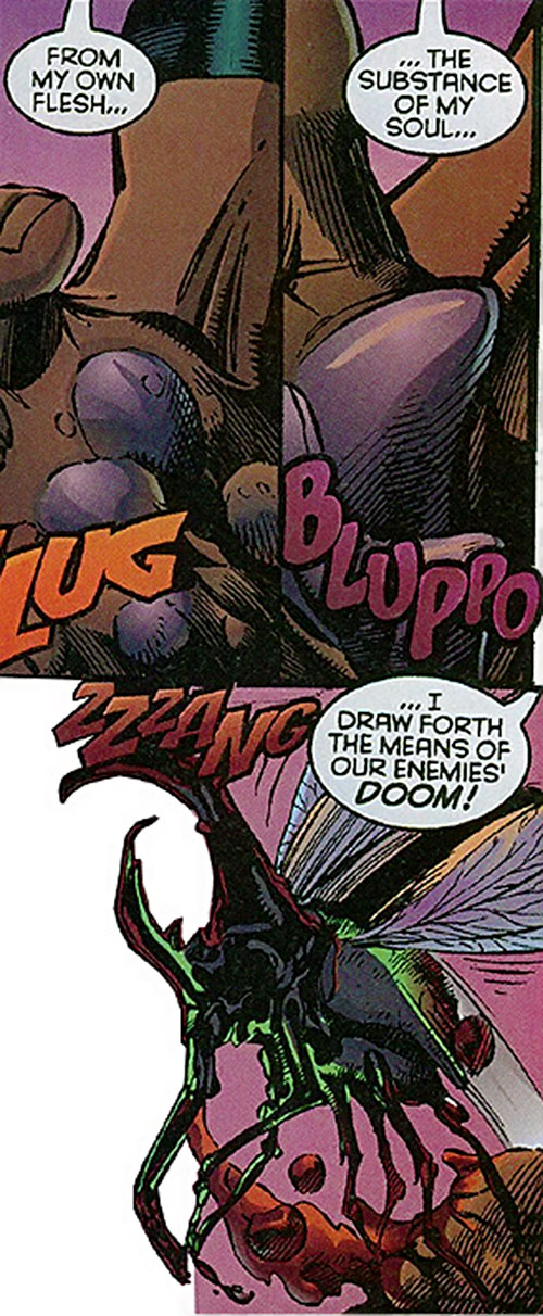 Bosch (Sovereign 7 enemy) (DC Comics) secreting demon insects