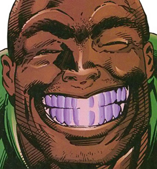 Bosch (Sovereign 7 enemy) (DC Comics) giant grin