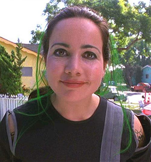 Bowler (Janeane Garofalo in Mystery Men) and her raccoon eyes makeup