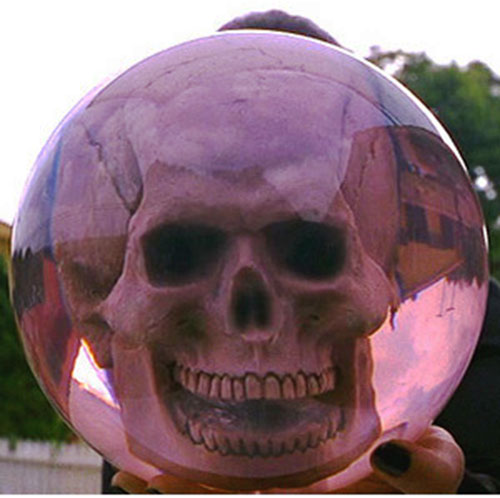Skull set in a bowling ball in Mystery Men