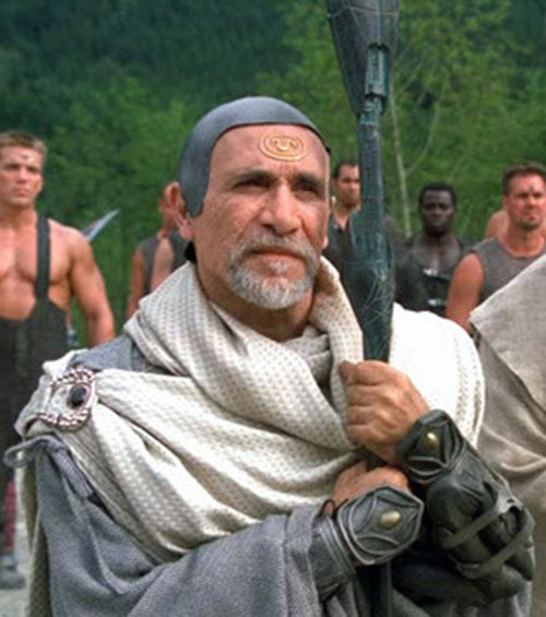 Bra'Tac (Tony Amendola in Stargate) with a white cloak
