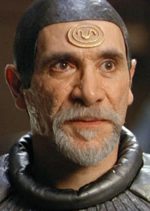 Bra'Tac (Tony Amendola in Stargate) face closeup