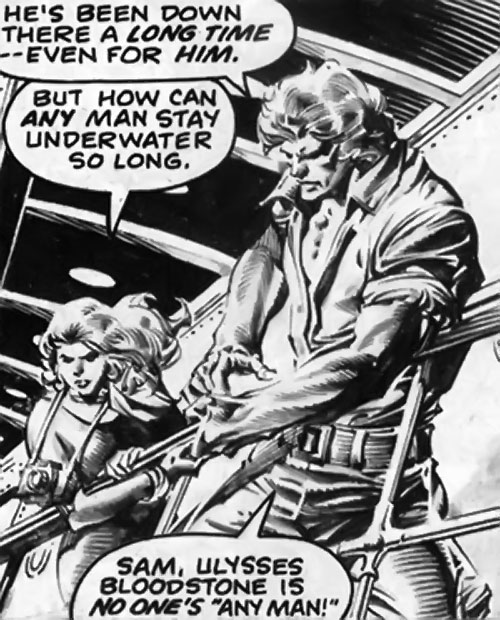 Brad Carter (Bloodstone ally) (Marvel Comics) and Sam Eden