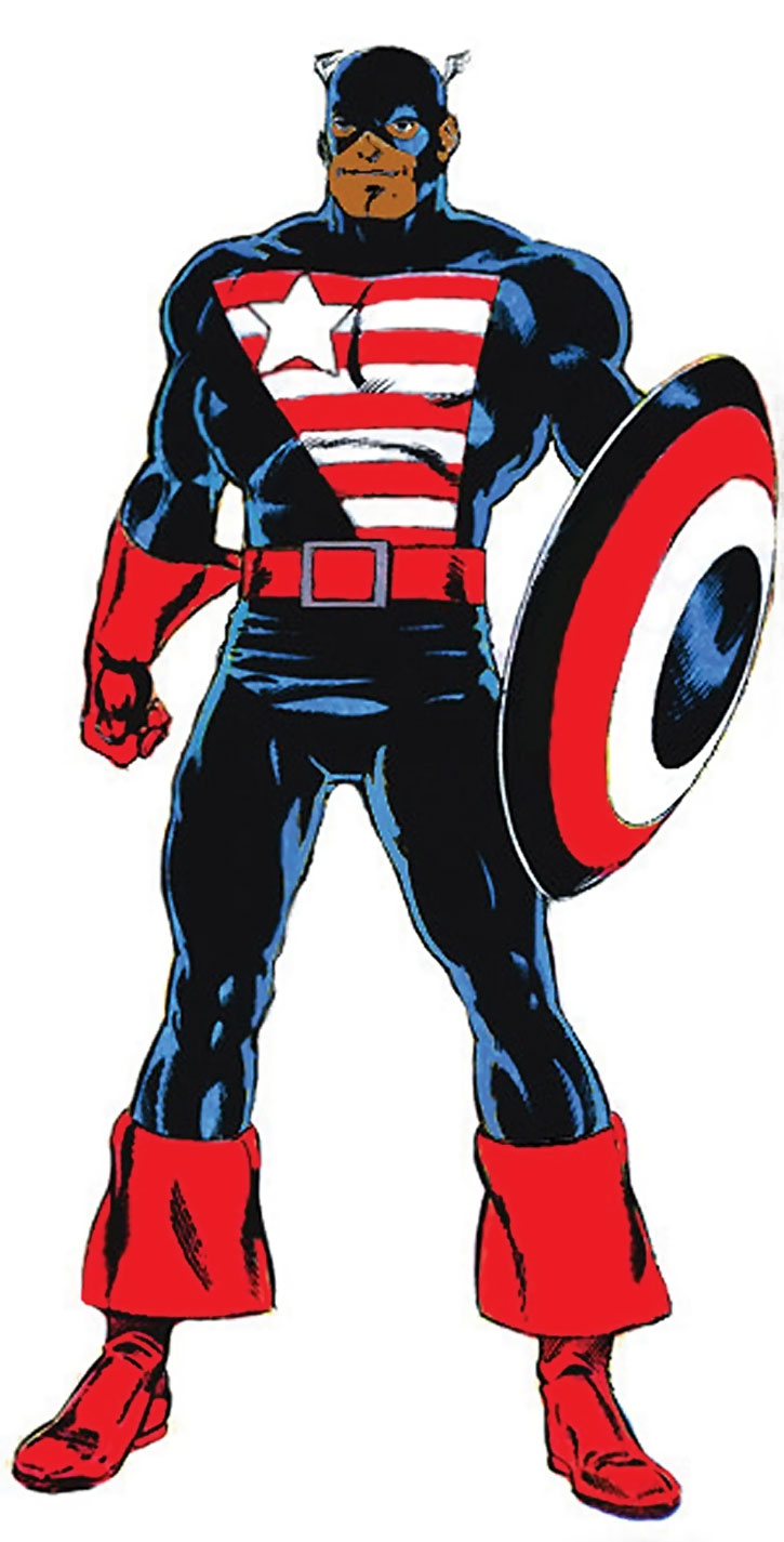 An alternate version of Isaiah Bradley as Captain America