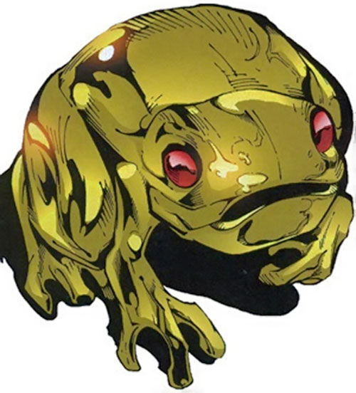 A brass frog of King Solomon (Black Panther Marvel comics)