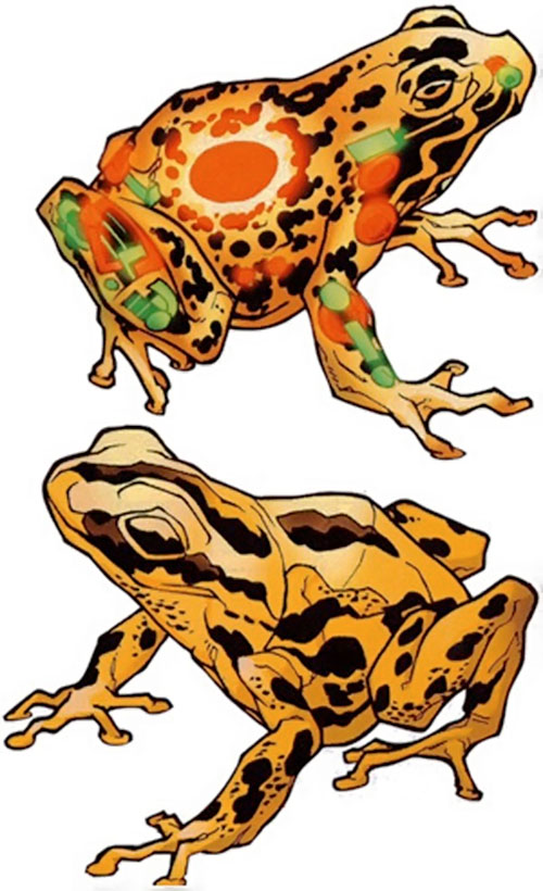 The brass frogs of King Solomon (Black Panther Marvel comics)