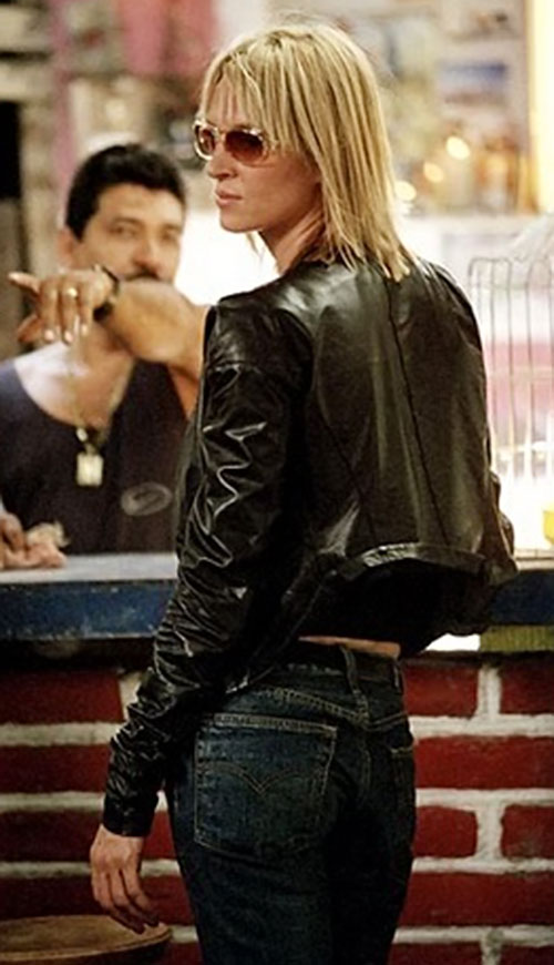 The Bride (Beatrix Kiddo) (Uma Thurman) (Kill Bill) in a bar