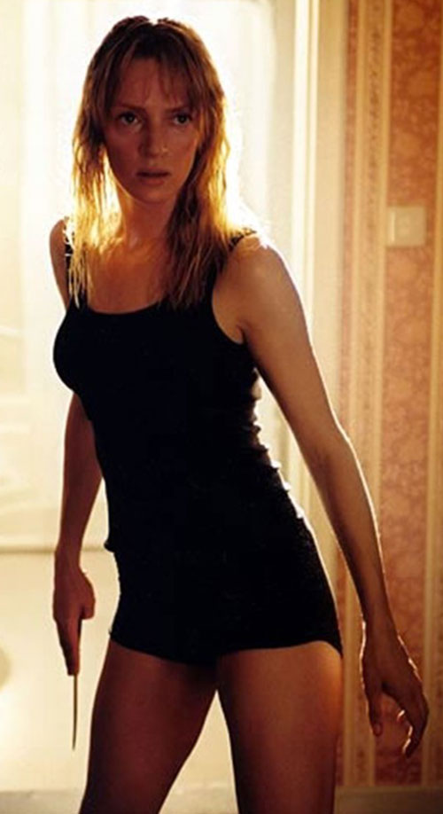 The Bride (Beatrix Kiddo) (Uma Thurman) (Kill Bill) in black sleepwear