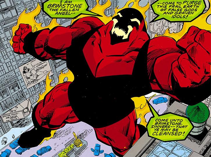 Brimstone (DC Comics legends) ranting, street scene