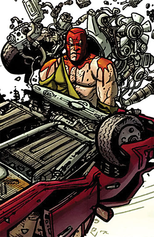 Brit (Image Comics Kirkman) bloodied under wrecked cars